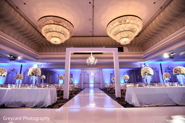 indian wedding reception floral and decor