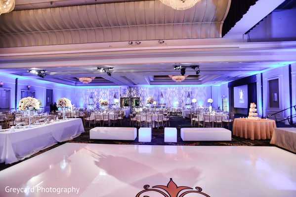 Reception Decor in City of Industry, CA South Indian Wedding by Greycard Photography