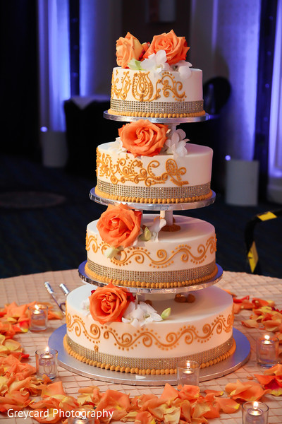 Wedding Cake in City of Industry, CA South Indian Wedding by Greycard Photography