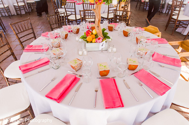 Reception Decor in Sonoma, CA Indian Wedding by MP Singh Photography