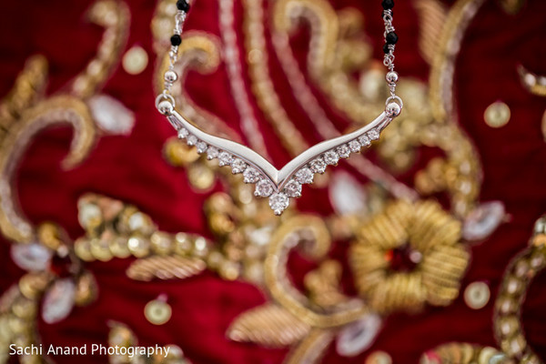 Bridal Jewelry in Chicago, IL Indian Wedding by Sachi Anand Photography