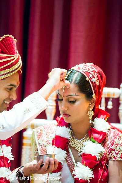 Ceremony in Chicago, IL Indian Wedding by Sachi Anand Photography