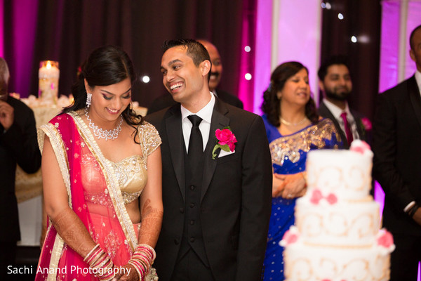 Reception in Chicago, IL Indian Wedding by Sachi Anand Photography