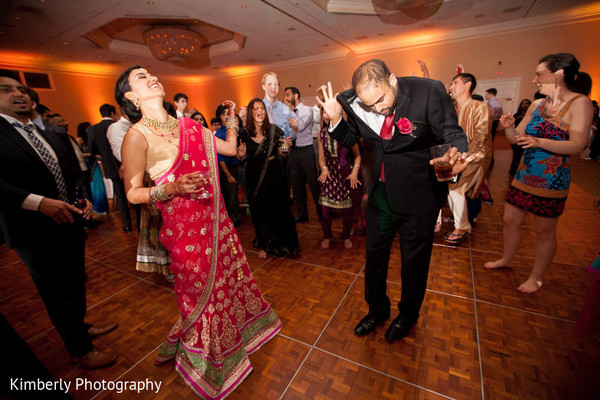 Reception in Palm Harbor, Florida Indian Wedding by Kimberly Photography