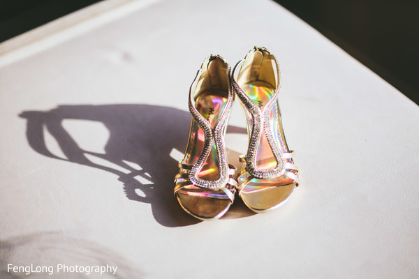 Shoes! in Cocoa Beach, FL Destination Indian Wedding by Fenglong Photography