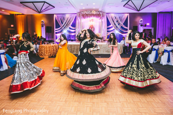 Reception in Cocoa Beach, FL Destination Indian Wedding by Fenglong Photography
