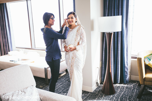 Getting Ready in Cocoa Beach, FL Destination Indian Wedding by Fenglong Photography