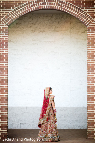 Bridal Portrait in Springfield, VA Indian Wedding by Sachi Anand Photography
