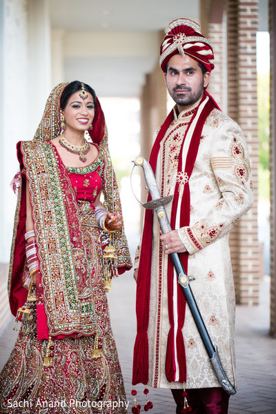 First Look in Springfield, VA Indian Wedding by Sachi Anand Photography