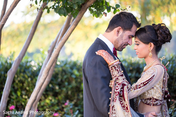 Reception Portrait in Springfield, VA Indian Wedding by Sachi Anand Photography