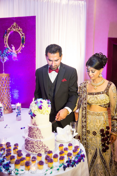 Reception in Springfield, VA Indian Wedding by Sachi Anand Photography