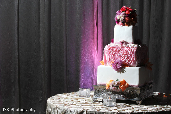 Wedding Cake in Concord, CA Indian Wedding by JSK Photography