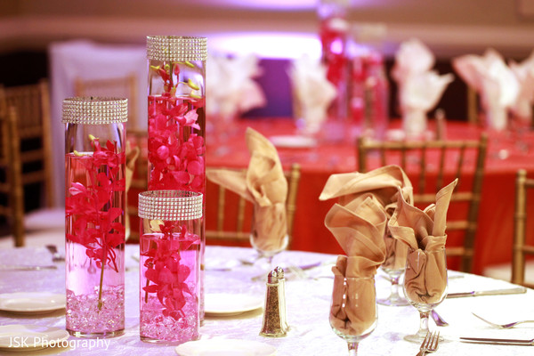 Reception Decor in Concord, CA Indian Wedding by JSK Photography