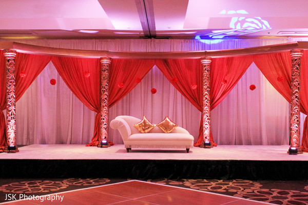 Sweetheart Stage in Concord, CA Indian Wedding by JSK Photography
