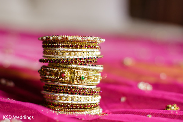 Bangles in Pearl River, NY Indian Wedding by KSD Weddings