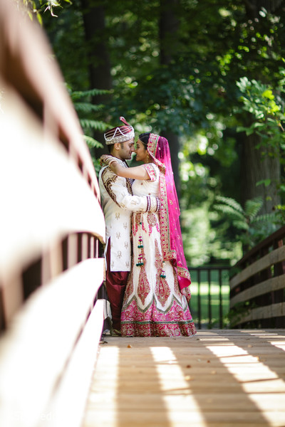 First Look in Pearl River, NY Indian Wedding by KSD Weddings