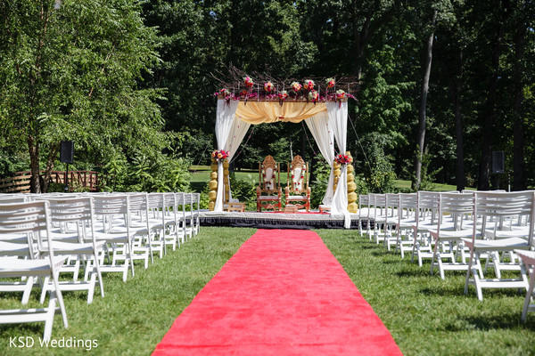 Floral & Decor in Pearl River, NY Indian Wedding by KSD Weddings
