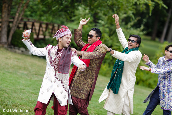 Baraat in Pearl River, NY Indian Wedding by KSD Weddings