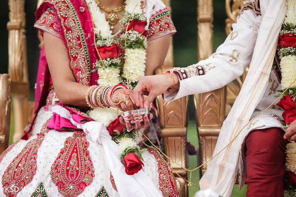 Ceremony in Pearl River, NY Indian Wedding by KSD Weddings