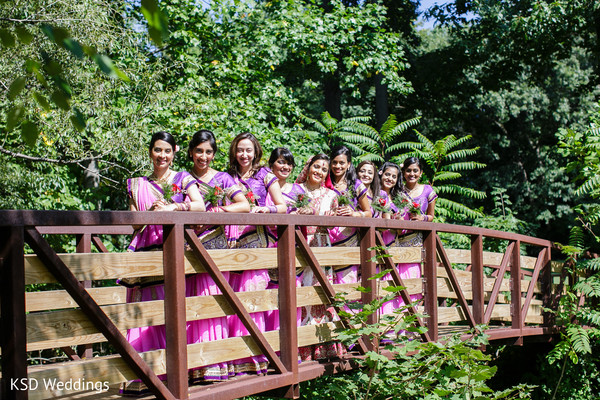 Bridal Party Portrait in Pearl River, NY Indian Wedding by KSD Weddings