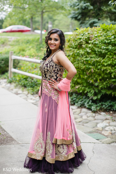 Reception Fashion in Pearl River, NY Indian Wedding by KSD Weddings
