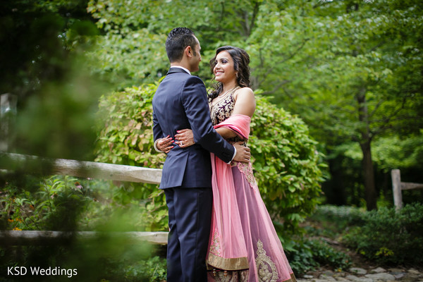 Reception Portrait in Pearl River, NY Indian Wedding by KSD Weddings
