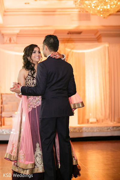 Reception in Pearl River, NY Indian Wedding by KSD Weddings