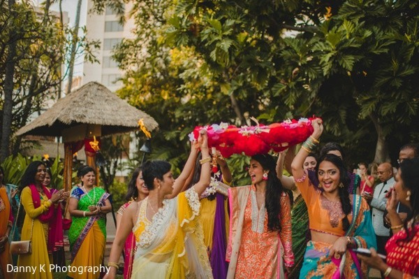 Sangeet in Oahu, Hawaii Destination South Indian Wedding by Danny K Photography