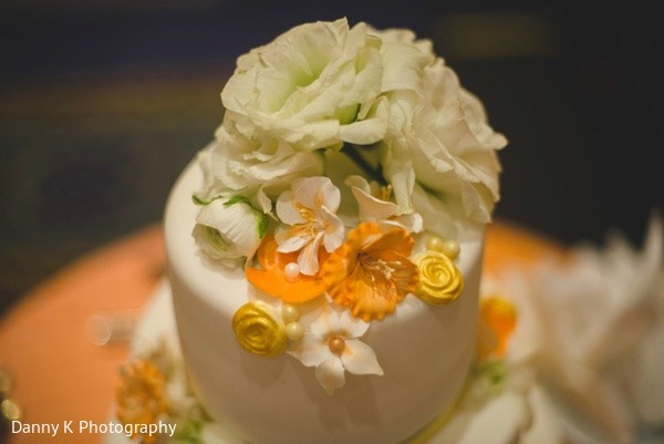 Reception Cake in Oahu, Hawaii Destination South Indian Wedding by Danny K Photography