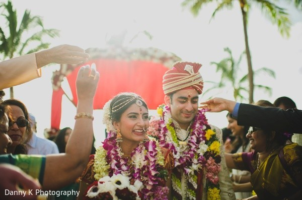 Ceremony in Oahu, Hawaii Destination South Indian Wedding by Danny K Photography