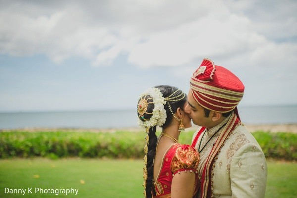 Portraits in Oahu, Hawaii Destination South Indian Wedding by Danny K Photography