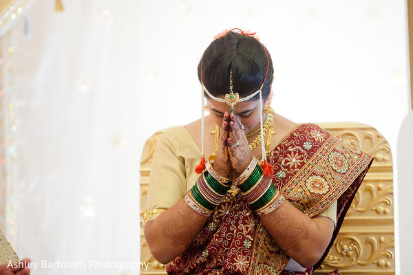 Ceremony in Hamilton, NJ Indian Fusion Wedding by Ashley Bartoletti Photography