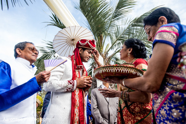 Ceremony in San Diego, CA Indian Wedding by Aaroneye Photography