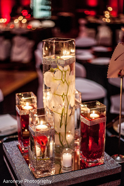 Reception Decor in San Diego, CA Indian Wedding by Aaroneye Photography
