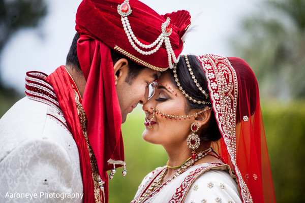 outdoor indian wedding portraits