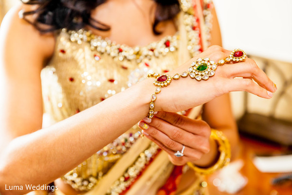 Getting Ready in Seattle, WA Indian Fusion Wedding by Luma Weddings
