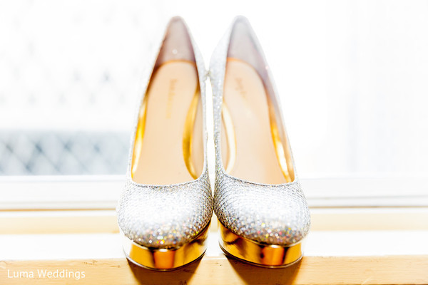 Shoes in Seattle, WA Indian Fusion Wedding by Luma Weddings