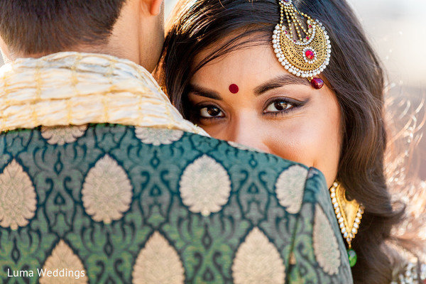 Wedding Portrait in Seattle, WA Indian Fusion Wedding by Luma Weddings