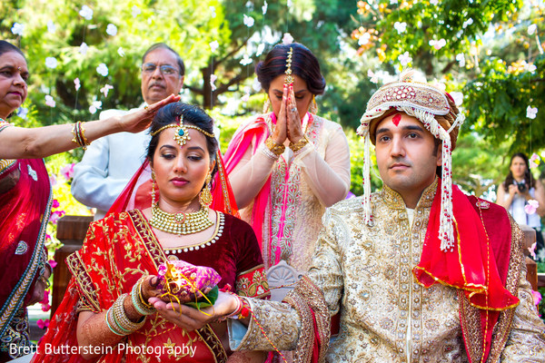 Ceremony in Los Angeles, CA Indian Wedding by Brett Butterstein Photography