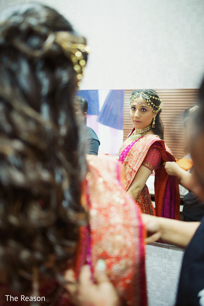 Getting Ready in New Delhi Indian Fusion Wedding by The Reason