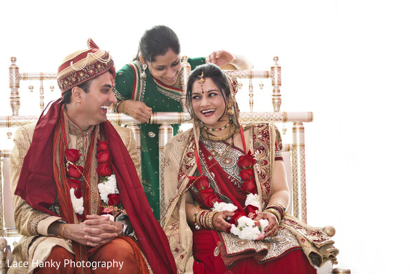 Ceremony in Bloomington, MN Indian Wedding by Lace Hanky Photography