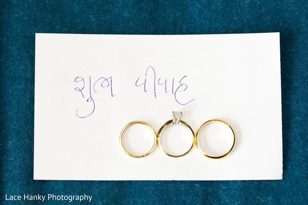 Weddings Rings in Bloomington, MN Indian Wedding by Lace Hanky Photography