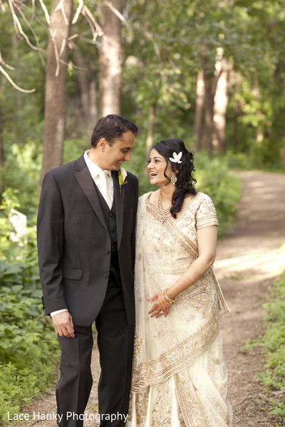 Reception Portrait in Bloomington, MN Indian Wedding by Lace Hanky Photography