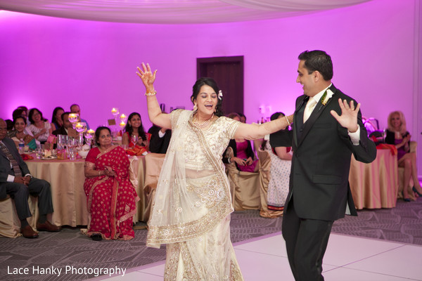 Reception in Bloomington, MN Indian Wedding by Lace Hanky Photography