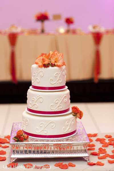 Wedding Cake in Bloomington, MN Indian Wedding by Lace Hanky Photography