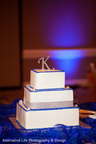 Reception Cake in Atlanta, GA South Indian Wedding by Alternative Life Photography & Design