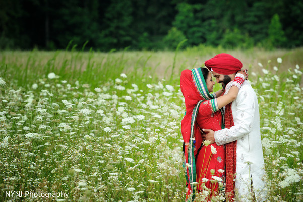 First Look in Burlington, NJ Sikh Wedding by NYNJ Photography