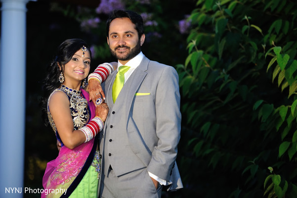 Reception Portrait in Burlington, NJ Sikh Wedding by NYNJ Photography