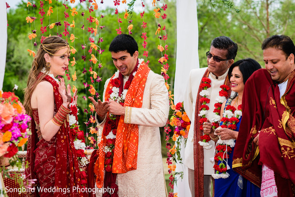 Ceremony in Bastrop, TX Indian Fusion Wedding by Songbird Weddings Photography
