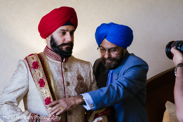 Groom Getting Ready in Boston, MA Sikh Wedding by Matei Horvath Photography